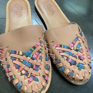 Latigo leather sandals